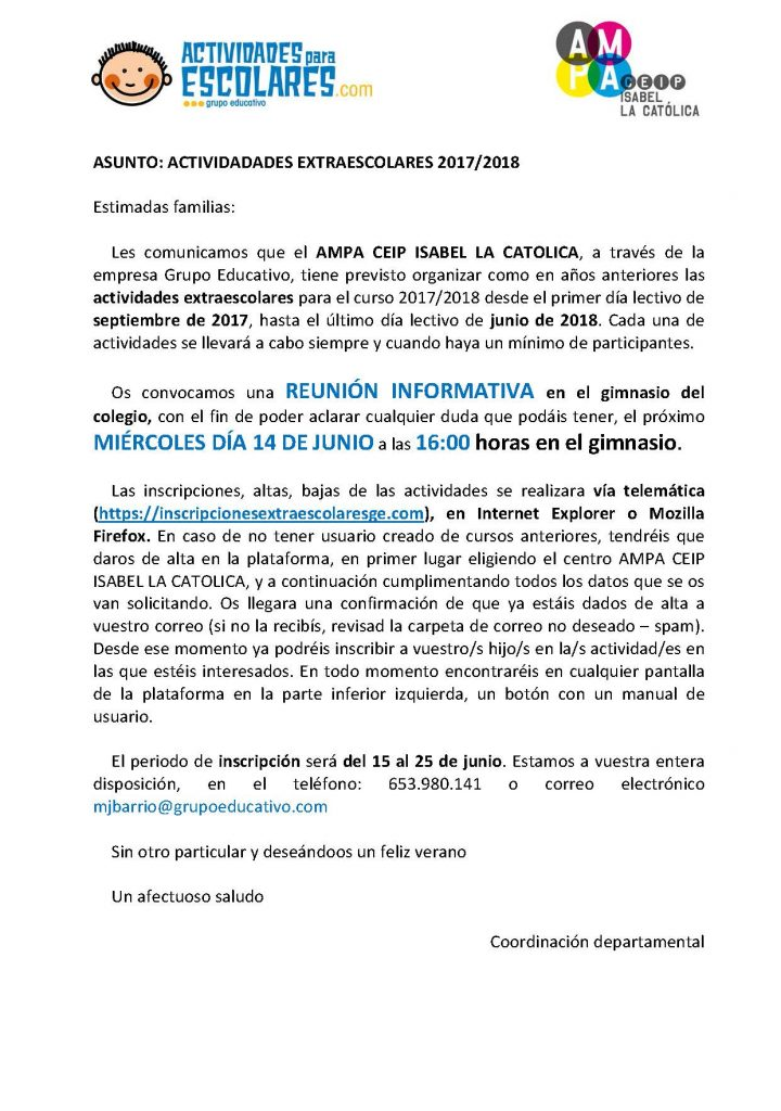 Circular informativa 2017-2018 CEIP ISABEL LA CATOLICA (1)