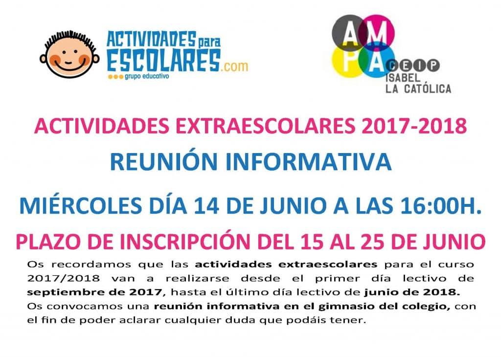 Extraescolares Isabel La Católica 2017-2018 (1)